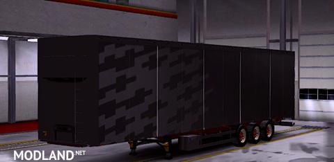 trailer volvo fh 2013 white black version mod for ets 2. Black Bedroom Furniture Sets. Home Design Ideas