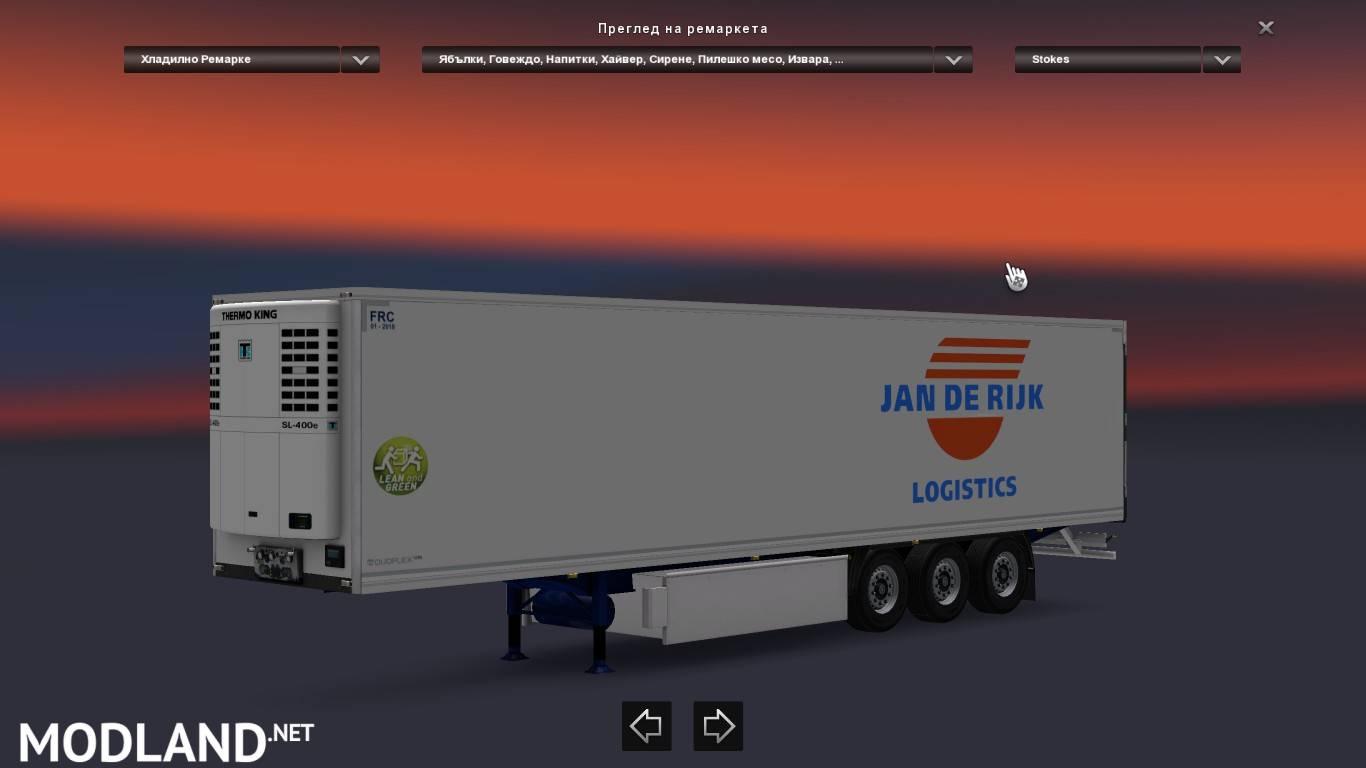 Jan De Rijk Trailer mod for ETS 2