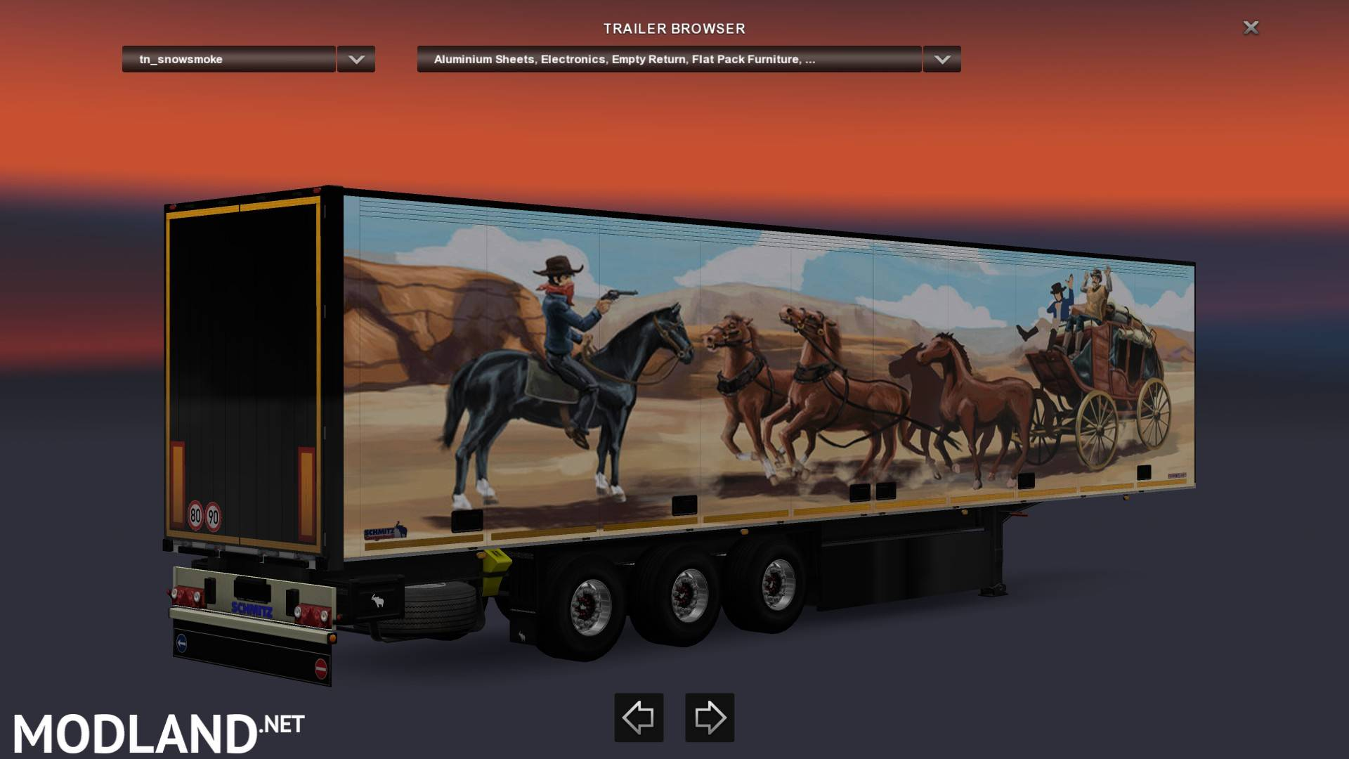 Smokey & The Bandit, Snowman Trailer mod for ETS 2