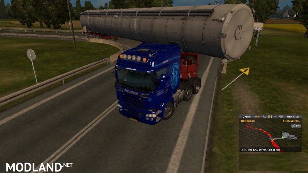 special transport with extra long cargo mod for ets 2. Black Bedroom Furniture Sets. Home Design Ideas