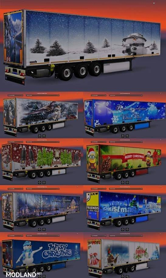 Christmas Trailers Pack mod for ETS 2