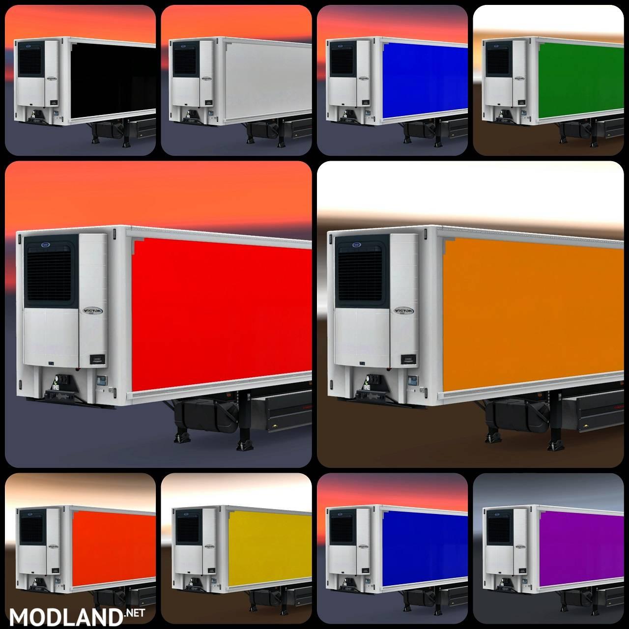 color schwazmuller refrigerated trailer  multiplayer ets mod  ets