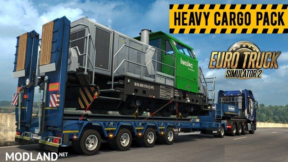 heavy cargo pack in rusmap and ros company mod for ets 2. Black Bedroom Furniture Sets. Home Design Ideas