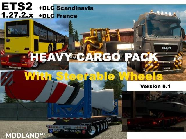 heavy cargo pack v 8 1 mod for ets 2. Black Bedroom Furniture Sets. Home Design Ideas