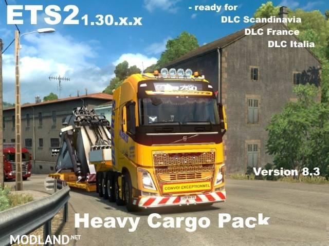 63 heavy cargo pack v 8 3 mod for ets 2. Black Bedroom Furniture Sets. Home Design Ideas