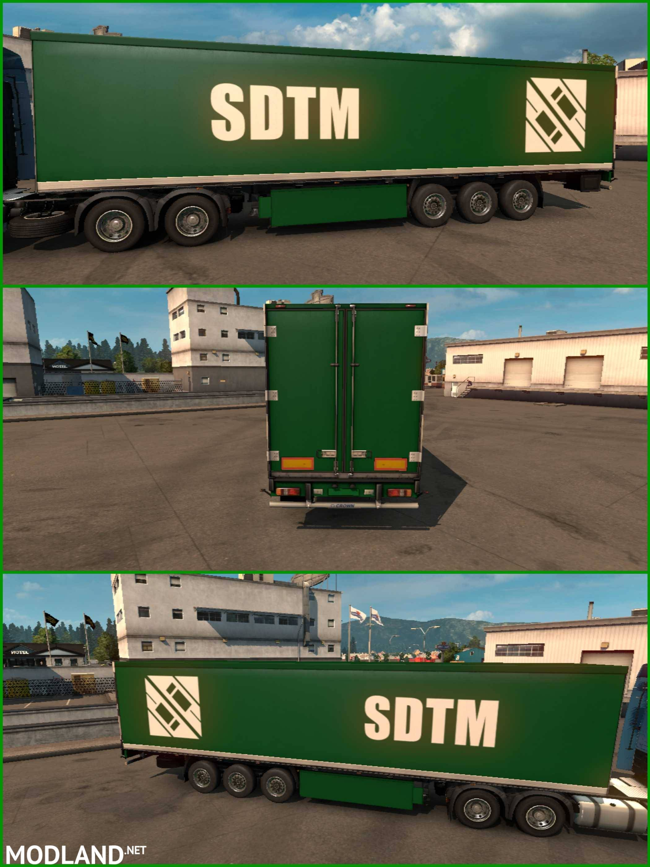 trailer sdtm green for ets2 1 30 mod for ets 2