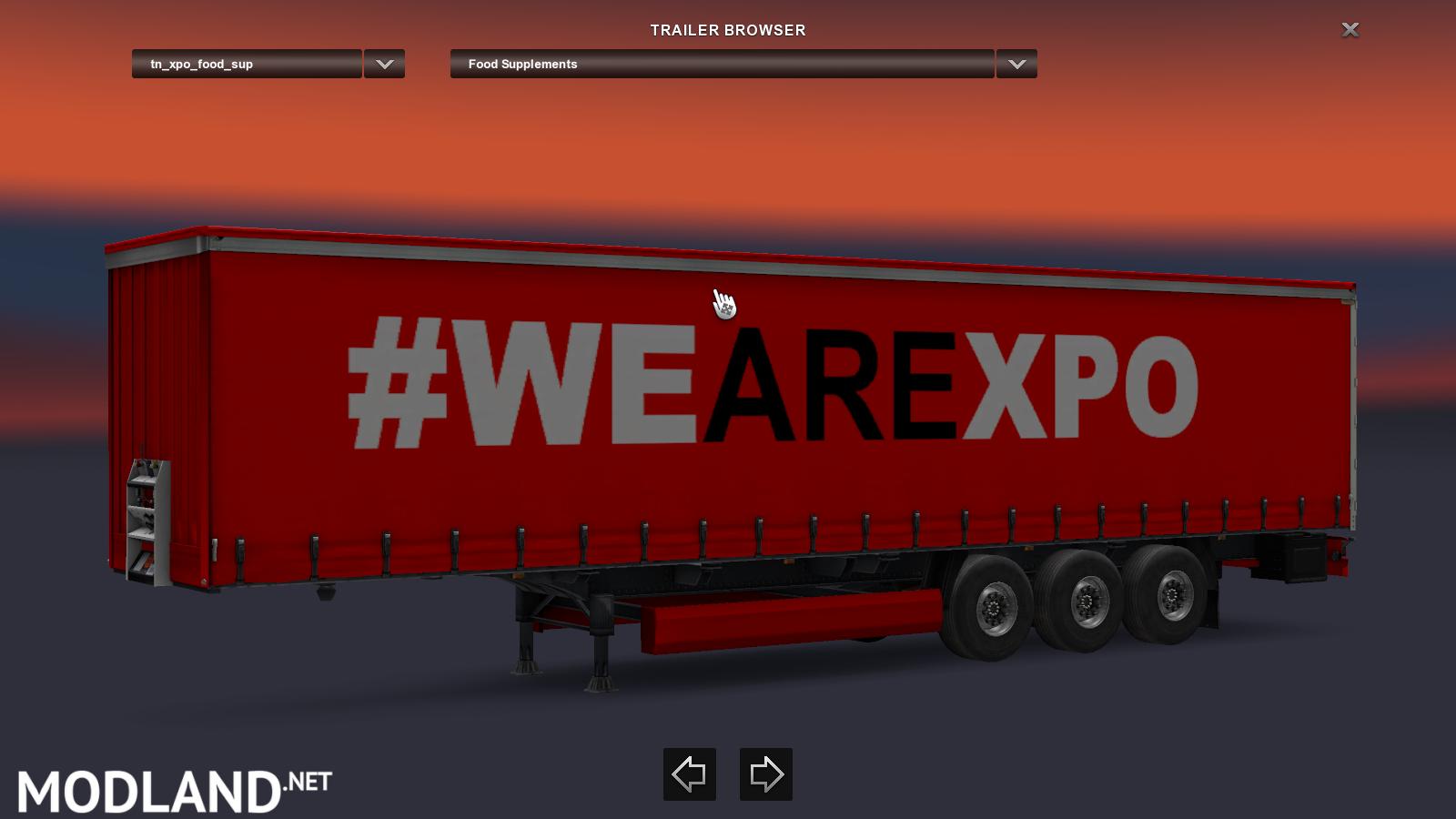 Xpo Logistics Trailer Mod For Ets 2