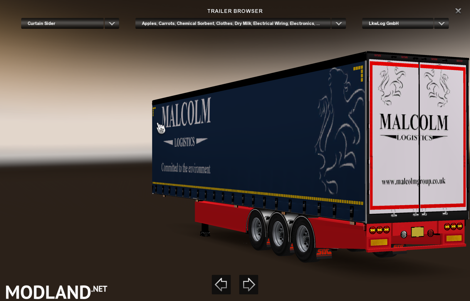 scttish company sdc trailers mod for ETS 2