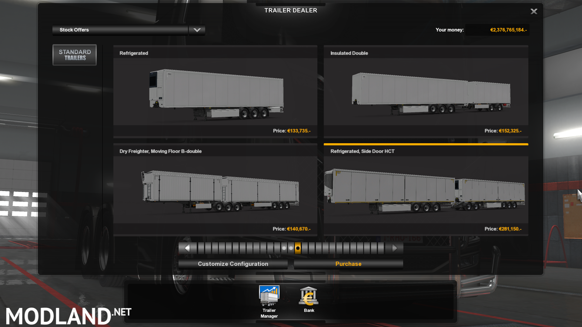 Unlocked Double Trailers – 1 33 mod for ETS 2