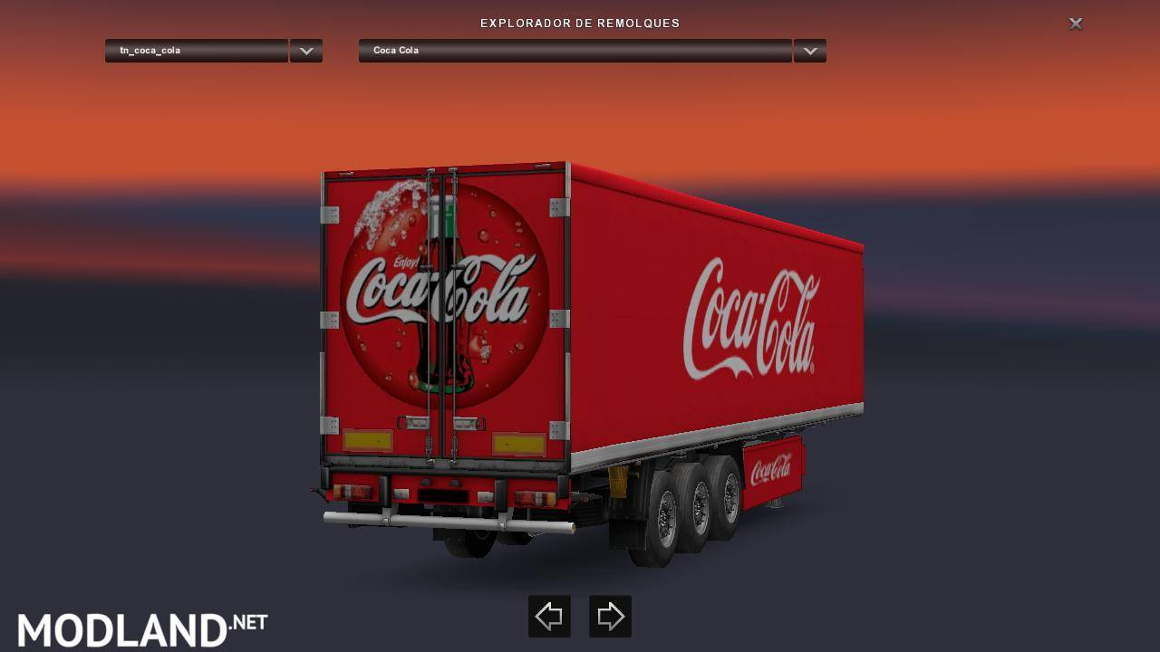 Custom Cargo Trailers >> Standalone Coca Cola Trailer mod for ETS 2