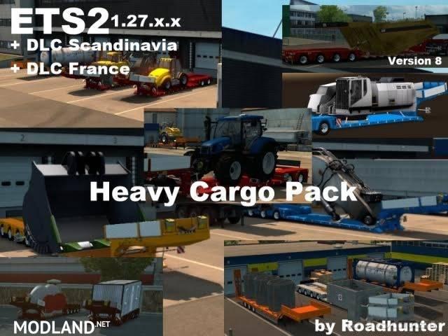 62 heavy cargo pack version 8 0 mod for ets 2. Black Bedroom Furniture Sets. Home Design Ideas