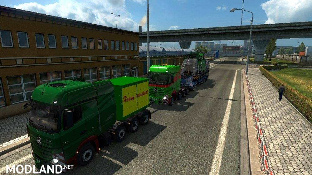 Heavy Haulage Convoy Mod for SCS 8x4s mod for ETS 2