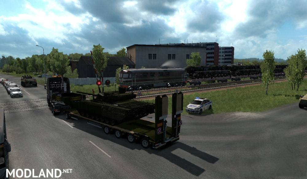 """Military Oversized Cargo"""" v 2.0 for DLC """"Beyond the Baltic Sea"""""""