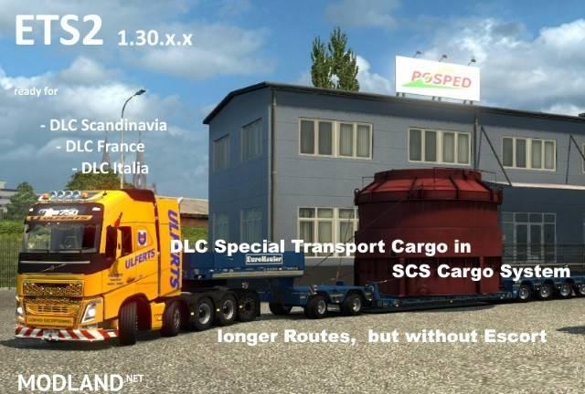 DLC Special Transport in SCS Cargo System