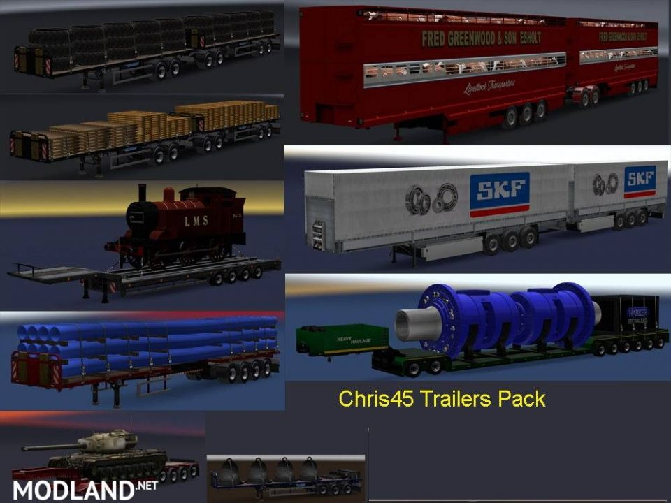 Chris45 Trailer Pack (Mostly UK Trailers)