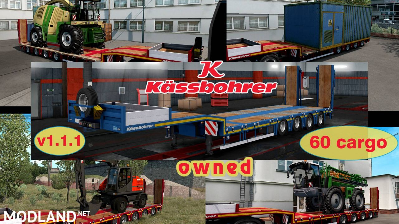 Ownable overweight trailer Kassbohrer LB4E