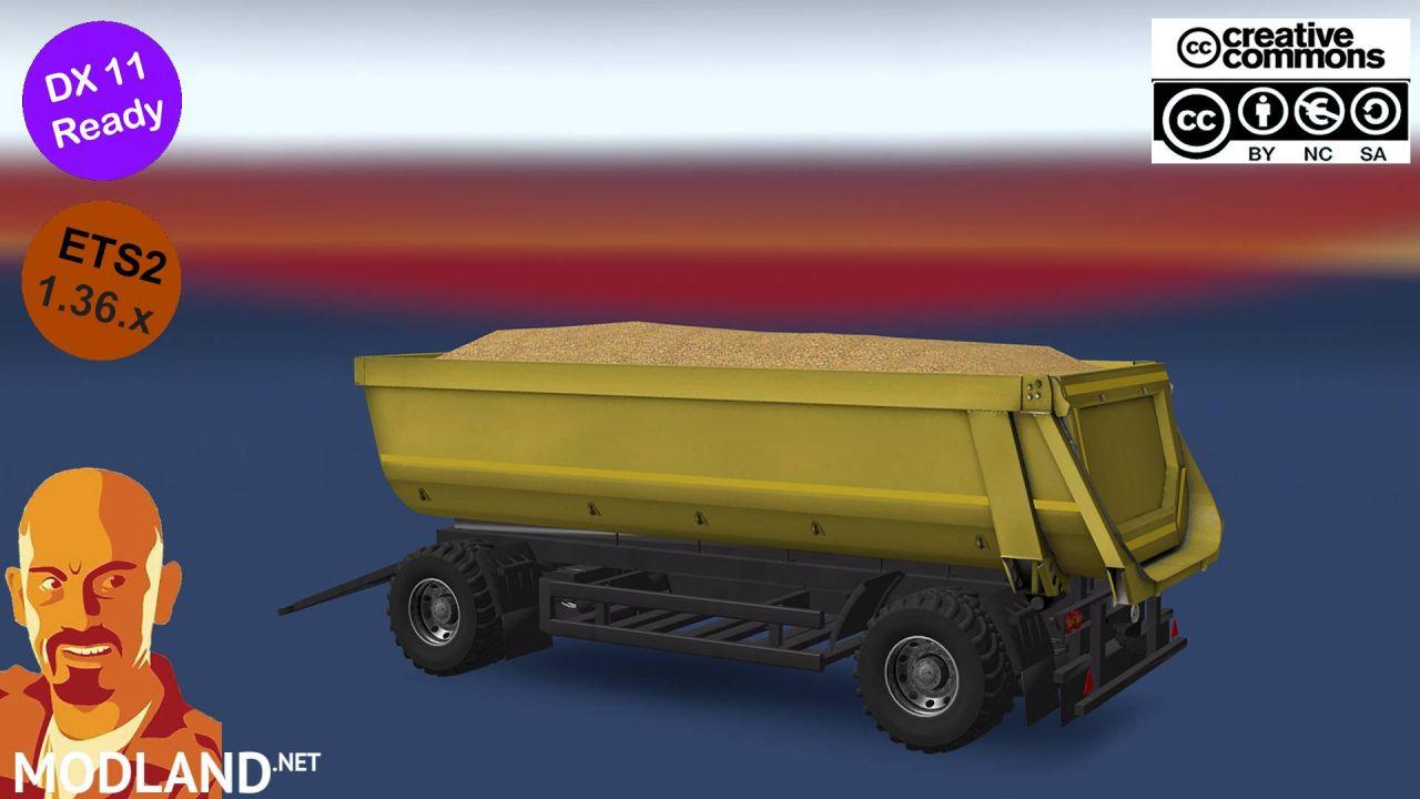 KIPPER AGRAR TRAILER FOR REAR HOOK TRUCKS ETS2 1.36.x DX11
