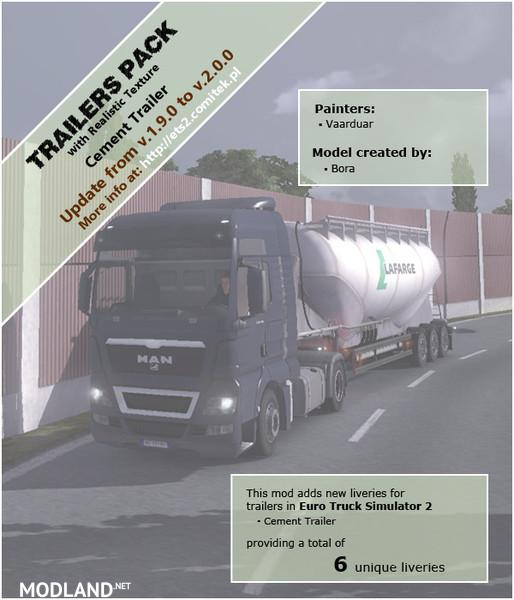 Trailers Pack Cement
