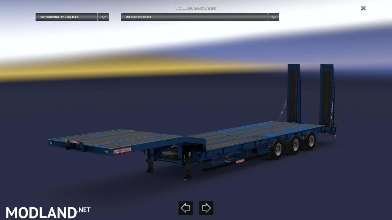 Empty Lowbed Schwarzm 252 Ller Trailer Support V1 30x Mod For