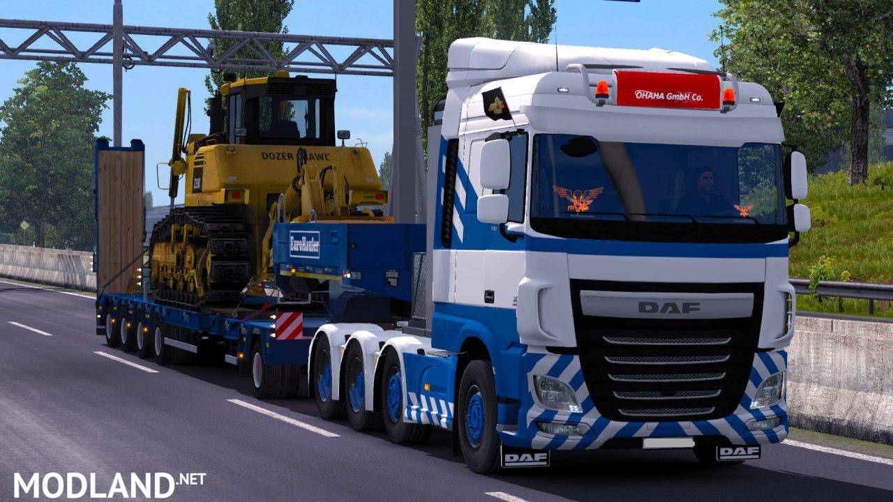 100 ton heavy cargo trailers for multiplayer mod for ets 2. Black Bedroom Furniture Sets. Home Design Ideas