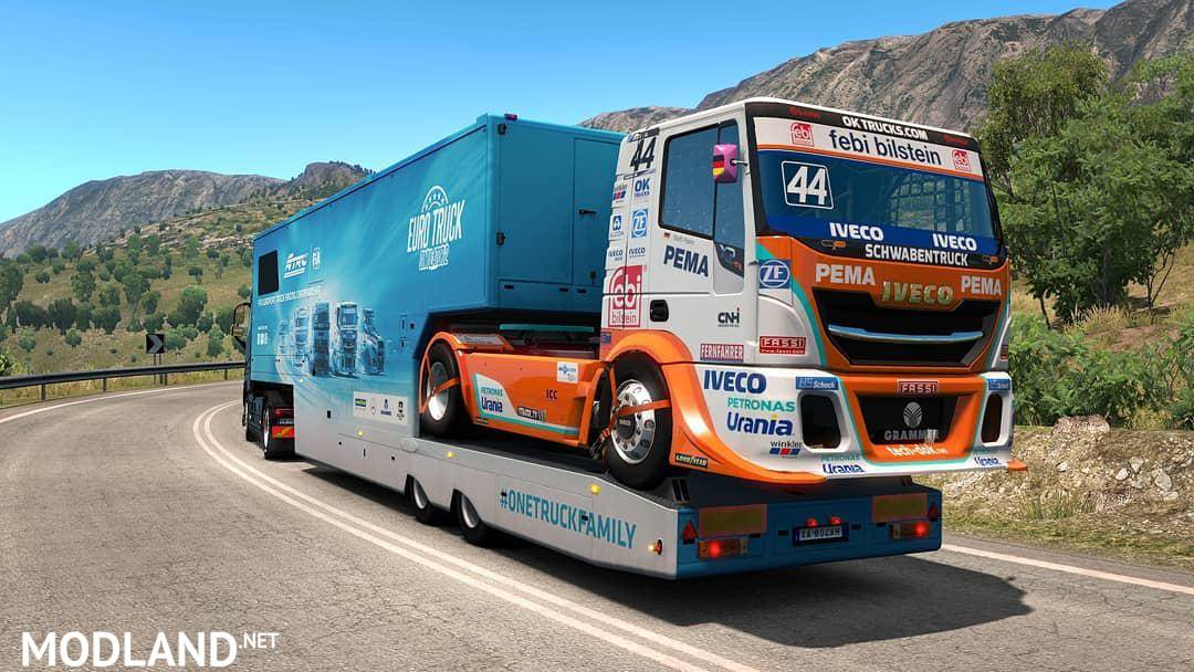 SCS ETRC trailers in AI traffic v1 2 mod for ETS 2