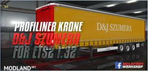 Trailer D&J Szumera For ETS2 1.32, 1 photo