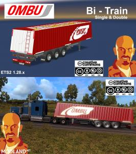 OMBU BI-TRAIN TRAILER (SINGLE & DOUBLE) ETS2 1.28.x, 1 photo