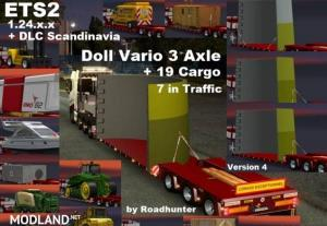 ETS2 1.24.x.x Doll Vario 3 Axle Trailer with new backlight and in Traffic v 4.0, 1 photo