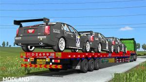 17.5M Flatbed Trailer Pull Three Sports Cars - Direct Download image