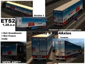Schmitz Cargobull S.KO 4 axles Reefer Trailer v 1.1, 1 photo