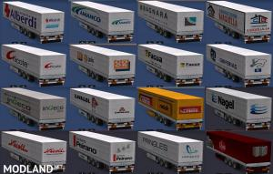 Trailers of construction companies, 1 photo