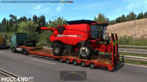 Agricultural trailers pack in traffic 1.35, 3 photo
