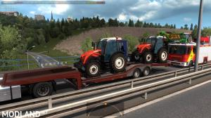 Agricultural trailers pack in traffic 1.35, 2 photo