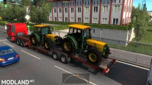 Agricultural trailers pack in traffic 1.35, 5 photo