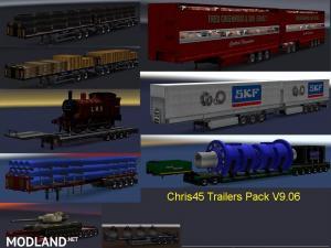 Chris45 Trailers Pack V9.06 for ETS2 V1.28, 3 photo