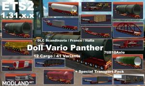 DOLL VARIO 7-10Axles Pack with 12 Cargos ETS2 1.31.x, 1 photo