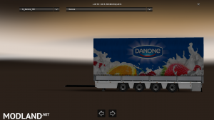 Trailer-Tandem Danone V1 For ETS2 1.31, 2 photo