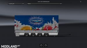 Trailer-Tandem Danone V1 For ETS2 1.31, 1 photo