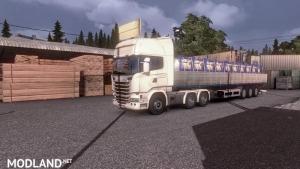 Flatbed trailer with steel v 1.12