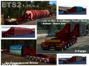 Doll Trailer with Vessel Bridge 6 and 6 Axles, 1 photo