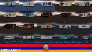 Trailer Krone Doubledecker 40 Skins, 1 photo