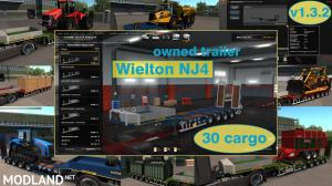 Ownable overweight trailer Wielton NJ4 v 1.3.2, 1 photo