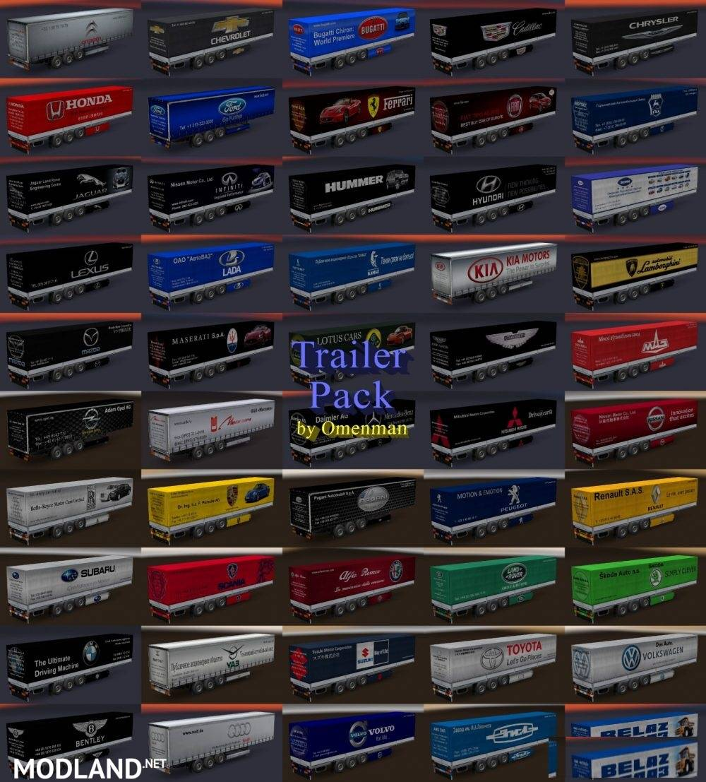 Trailer Pack Cars 2 0 Mod For Ets 2