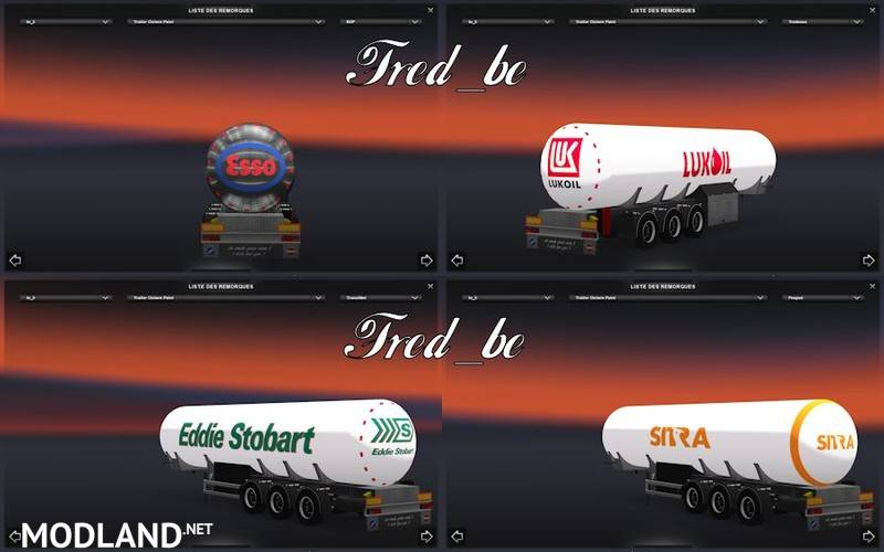Trailer Pack Cistern Chrome And Painted Mod For Ets 2