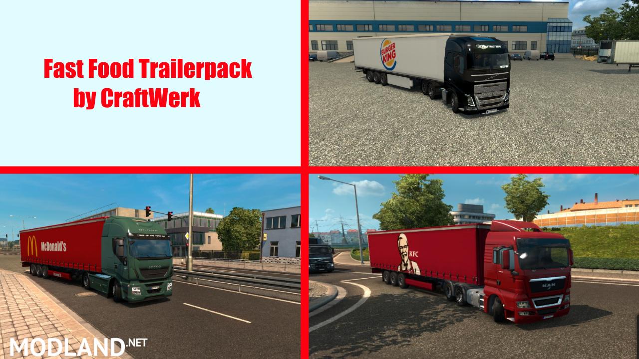 Fast Food Trailer Pack by CraftWerk mod for ETS 2