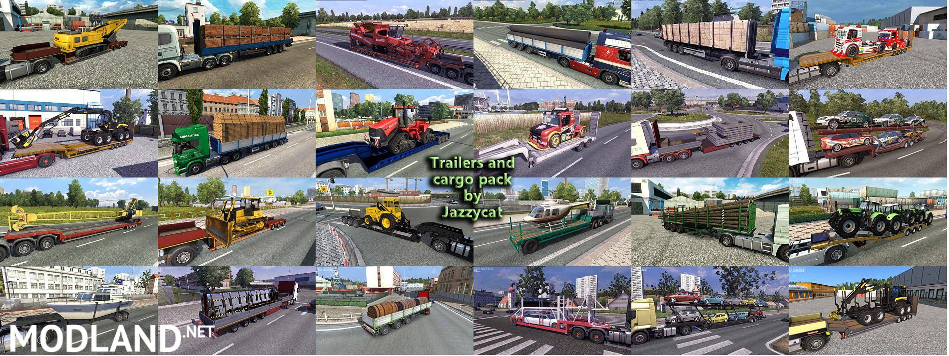 trailers and cargo pack by jazzycat v3 7 mod for ets 2