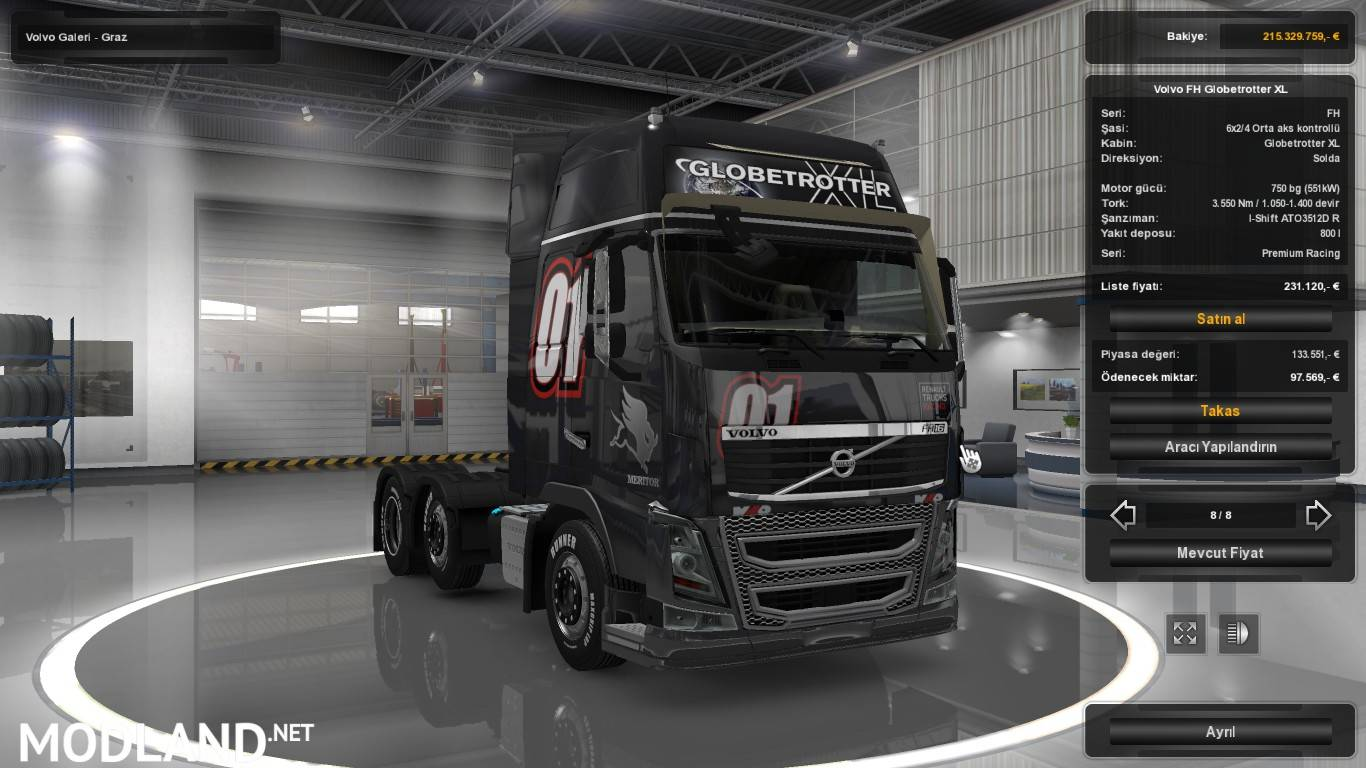 Volvo on multiplayer mod for ETS 2