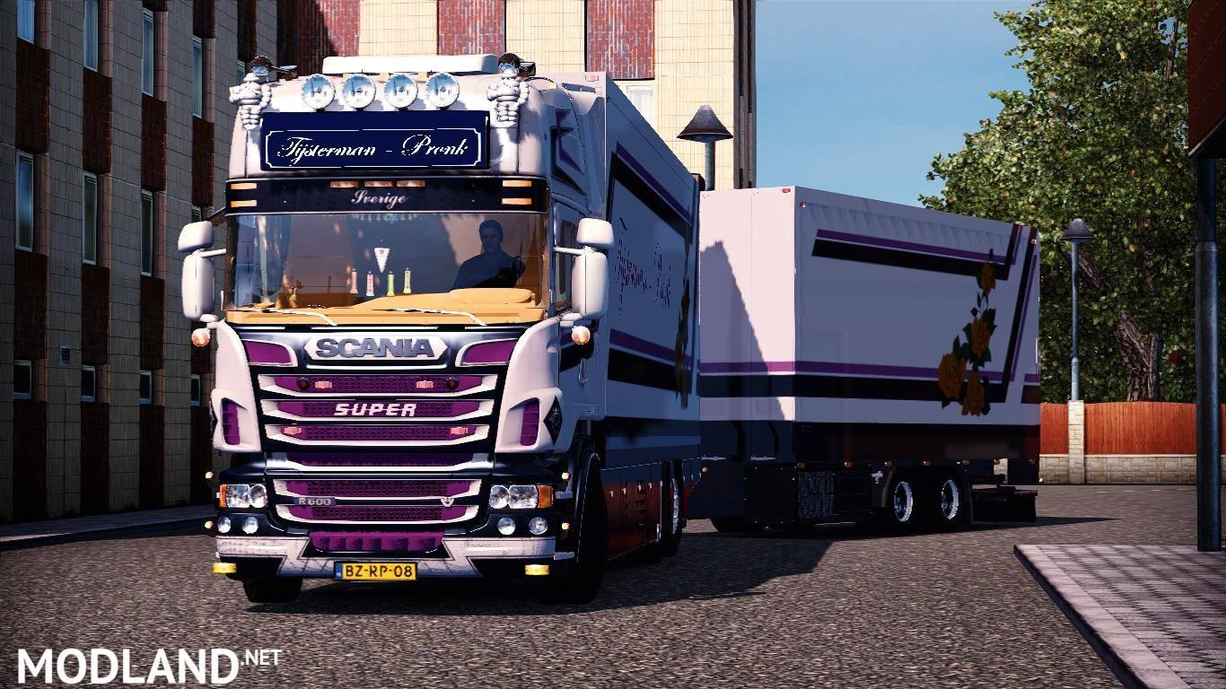 Scania R500 Tijsterman-Pronk + Trailer + DLS Interior V8 ...