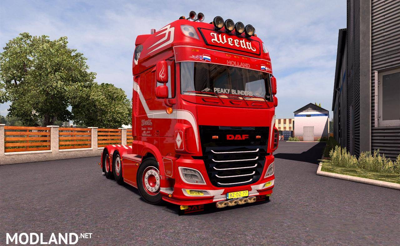 daf xf weeda 106 510 mod for ets 2. Black Bedroom Furniture Sets. Home Design Ideas