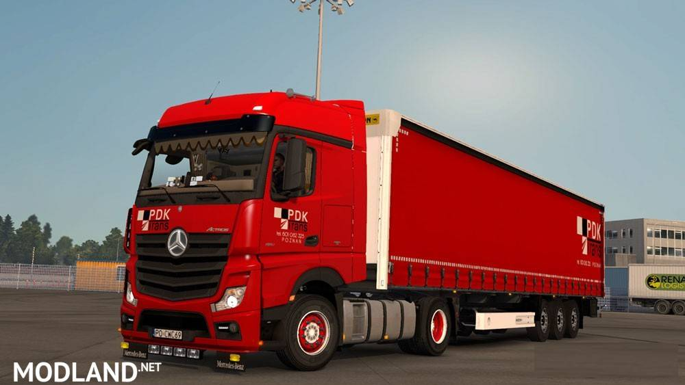 Mercedes Actros MP4 + Wielton PDK mod for ETS 2